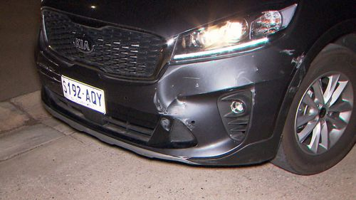 An unmarked police car was rammed when the driver tried to escape Buckle Road, a dead end street.