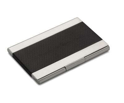"<a href=""http://shop.davidjones.com.au/djs/en/davidjones/alta-linea-stainless-steel-business-card-holder"" target=""_blank"">Alta Linea Stainless Steel Business Card Holder, $49.95.</a>"