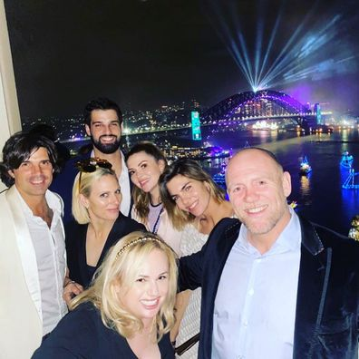 Zara and Mike Tindal celebrate New Year's Eve with Rebel Wilson in Sydney