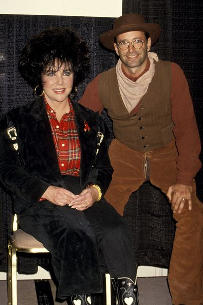 Liz Taylor and Herb Ritts during 'Two-Steppin' for the Cure' AmFAR Benefit, February 26, 1994 in Beverly Hills, California