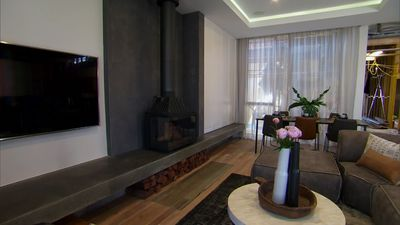 Josh and Elyse's Living and Dining Room from The Block Season 13 (2017)