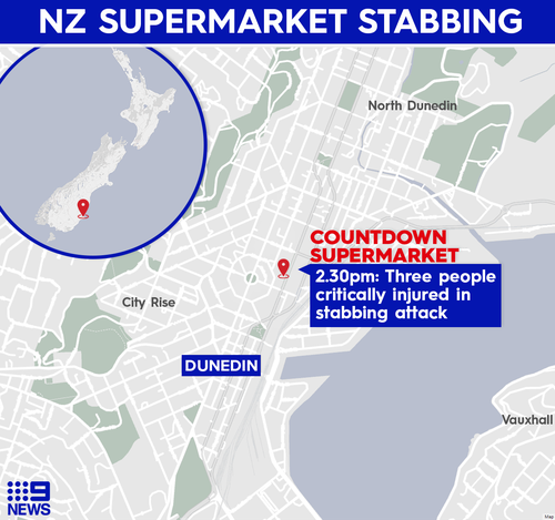 The attack took place at a Countdown supermarket in Dunedin, on New Zealand's south island.