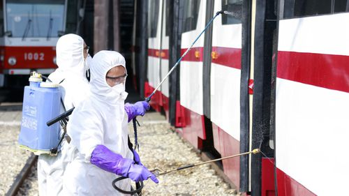 Coronavirus prevention measures in Pyongyang.