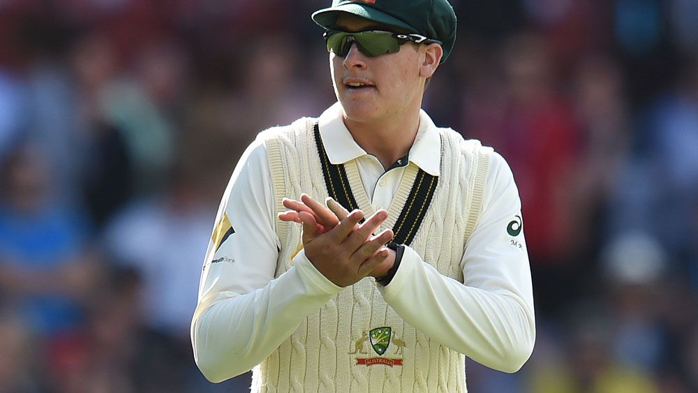 Matt Renshaw thought it was a joke when he was asked to field at first slip in his Test debut. (AAP)