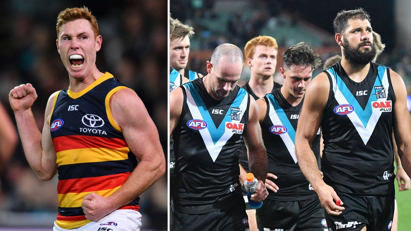 Lynch stars for Crows to help beat Power in Adelaide derby