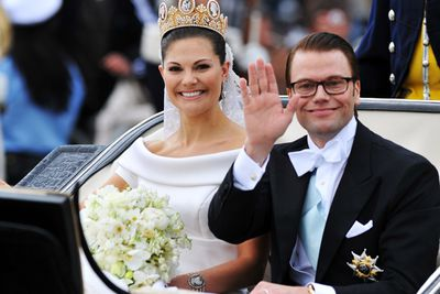 "<b>Became royalty in:</b> Sweden</b><P>Sweden's Princess Victoria was rumoured to have been in a relationship with her spunky personal trainer since 2002 - so by the time they tied the knot in 2010, the public had well and truly ""worked out"" that they were the real deal. Get it?"