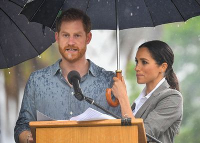 Prince Harry and Meghan Markle at Dubbo's Victoria Park in NSW, Wednesday October 17 2018