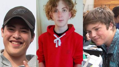 Niko Hill, left, Javarney Drummond, centre, and Andrew Goodger were among five teenagers killed in a car crash near Timaru on August 7, 2021.