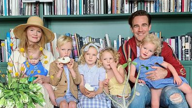 James Van Der Beek, wife Kimberly Van Der Beek, kids, Olivia, Joshua, Annabel, Emilia and Gwendolyn.