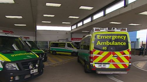 Ambulances were diverted away from the hospital when the outage was occurring. Picture: 9NEWS