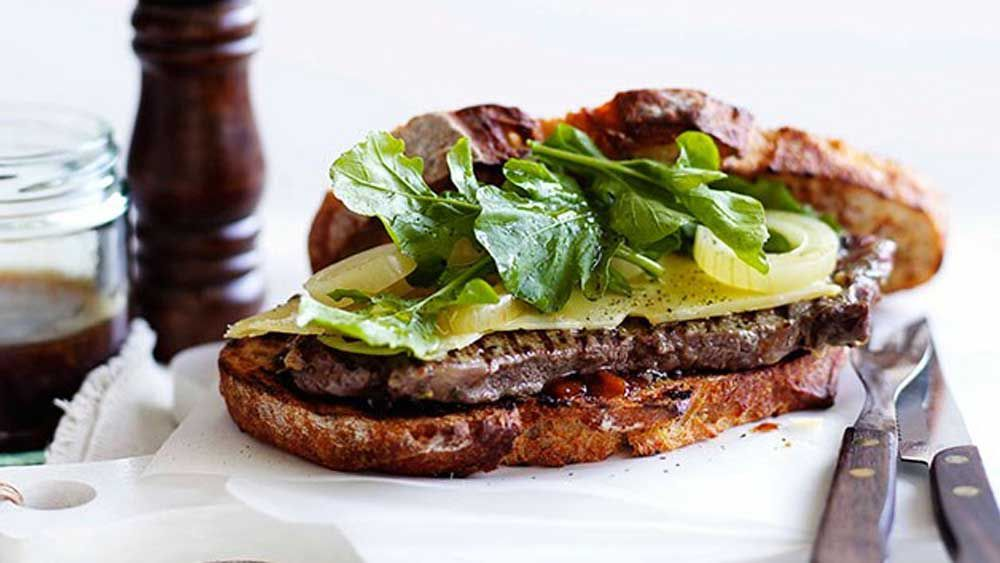Ploughman's steak sandwich