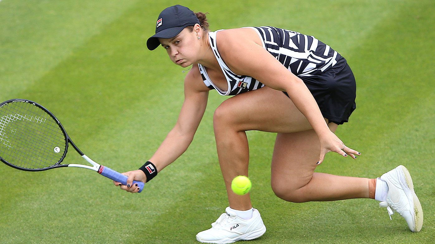 Ashleigh Barty during day seven of the Nature Valley Classic at Edgbaston Priory Club, Birmingham