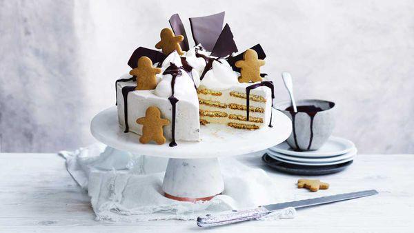 Curtis Stone's get-ahead gingerbread festive ice cream cake recipe