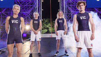 Australian Ninja Warrior State of Origin Team  VIC. Mel Armstrong, Ashlin Herbert, Zak Stolz and Charlie Robbins.