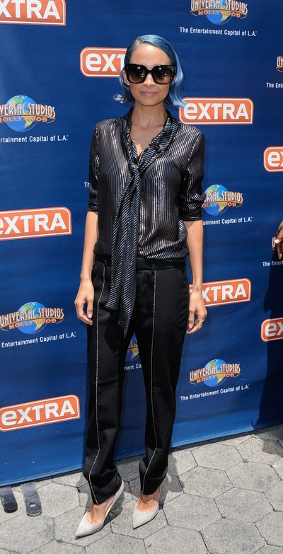 Nicole Richie at <em>Extra TV</em> at Universal Studios in Hollywood, July, 2014