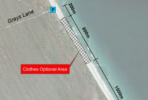 Byron Shire Council has designated 800m of Tyagarah Beach to nude bathers. Image: Byron Shire Council