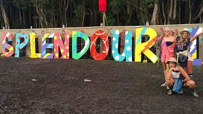 Slendour in the Grass has morphed into #SplendourInTheMud - Source: maddidutton (Instagram).