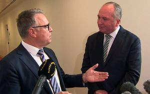 Joyce and Fitzgibbon's corridor clash over net-zero emissions