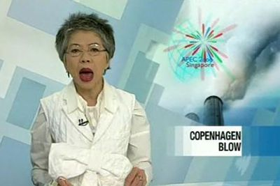 If you thought the news was boring, switch over to SBS. Lee Lin Chin's hair and outfits will be enough to keep you entertained even through the finance bulletin.