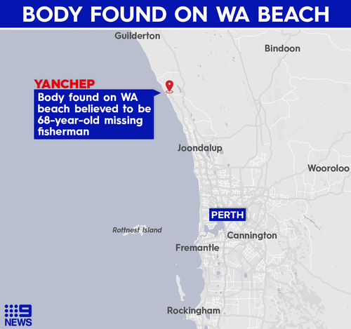 A man fell overboard from his tinnie off the coast of WA.