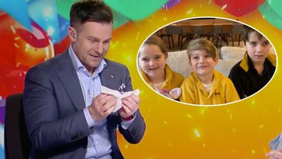 David Campbell left in tears after message from children