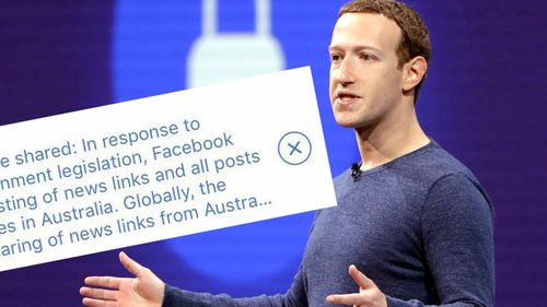 Mark Zuckerberg Facebook bans Australian news