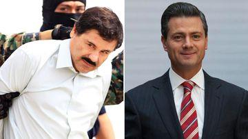 El Chapo and President Enrique Pena Nieto