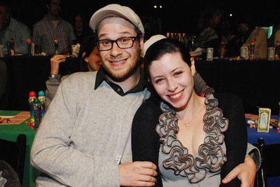 <b>Seth Rogen</b> married  long-time girlfriend/writer <b>Lauren Miller</b>. Celebrating his nuptials with his friends, including<b> Jonah Hill, Adam Sandler</b> and<b> Paul Rudd.</b>