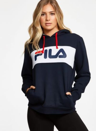 "Trade your pussy-bow blouse for a hoodie. <br> <br> <a href=""http://fila.com.au/product/womens-heritage-hood/"" target=""_blank"" draggable=""false"">Fila Heritage hoodie, $40</a>"