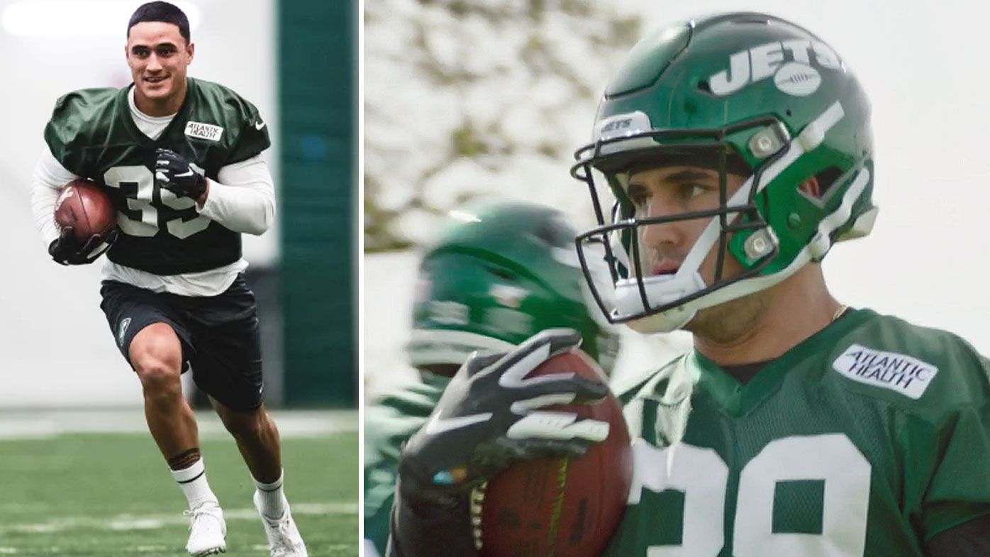 Holmes at Jets practice