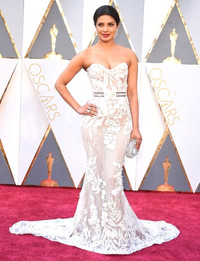 <p>Priyanka Chopra in Zuhair Murad.</p> <p>Who? The star of the upcoming Baywatch revival sent Indian search engines into overdrive on the big night, with Google searches in that country increasing by 70 per cent during the Oscars. </p>