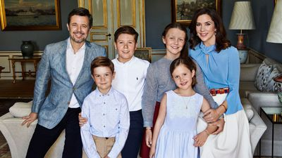 Danish royal family release new portrait