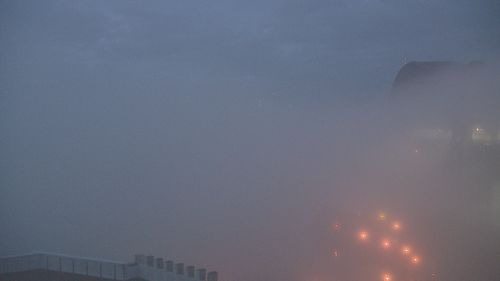 A thick blanket of fog is covering Sydney this morning, affecting public transport services.