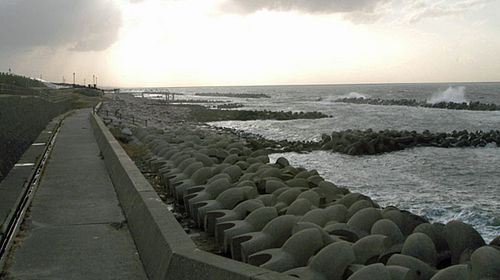 The remote beach near Niigata in Japan where Megumi Yokota is believed to have been abducted in 1977. (Photo: AP).
