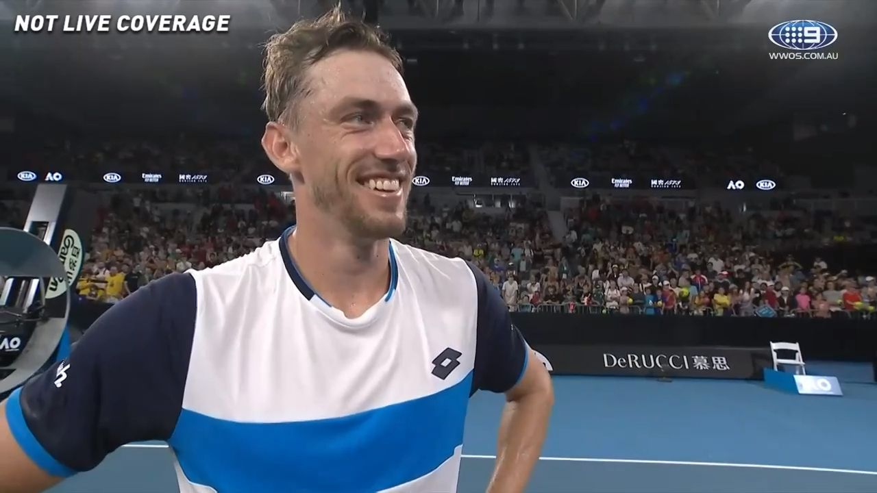 John Millman takes subtle shot at tennis 'corporates' after setting up potential third-round Roger Federer clash