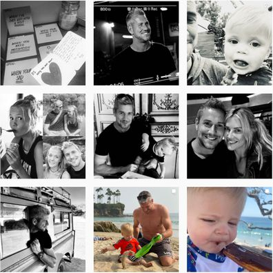 Since news of the breakup Ant Anstead has been posting on his feed in black and white.