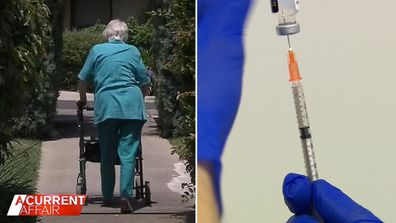Concerns for aged care residents as vaccine deadline looms.