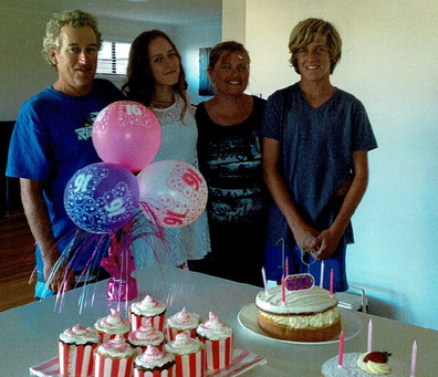 Debbie Gaunt and her family