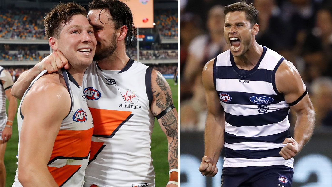AFL greats defend Toby Greene as GWS star and Geelong's Tom Hawkins await tribunal