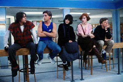 "Often cited as the ultimate 80s teen movie, if not the best teen movie of all time, John Hughes' high school classic puts five teenagers in detention, where they discover they're not so different after all. The 80s Brat Pack of teen actors are in out in full force, with Molly Ringwald, Ally Sheedy, Judd Nelson, Anthony Michael Hall and Emilio Estevez delivering us quote after quote. ""Eat my shorts"", for starters..."