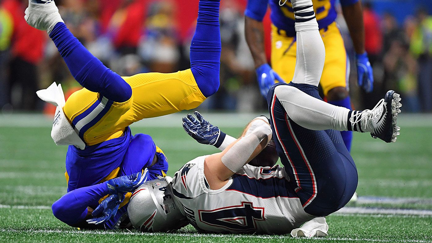 NFL referees rinsed for 'BS' penalty flag on LA Rams' Robey-Coleman for hit on Patriots running back Rex Burkhead