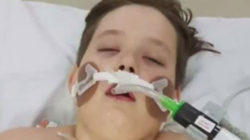 The 10-year-old began showing signs of the flu on Saturday. (9NEWS)