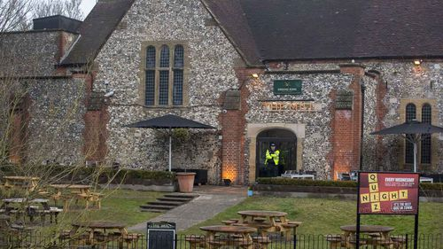 A restaurant in Salisbury near where Sergei Skripal and his daughter Yulia were poisoned. (AAP)