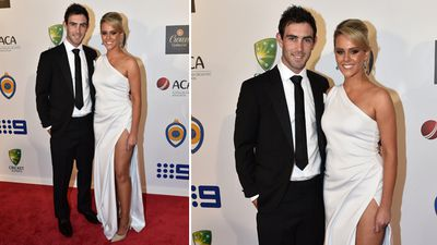 Glenn Maxwell and Candice Wyatt. (AAP)
