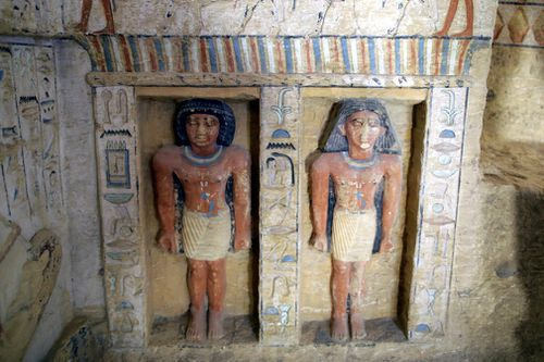 "Brightly painted relief statues were part of the ""exceptionally well-preserved"" treasures found in the tomb of a priest called Wahtye who was involved in royal purification during the reign of King Nefer Ir-Ka-Re about 4400 years ago."