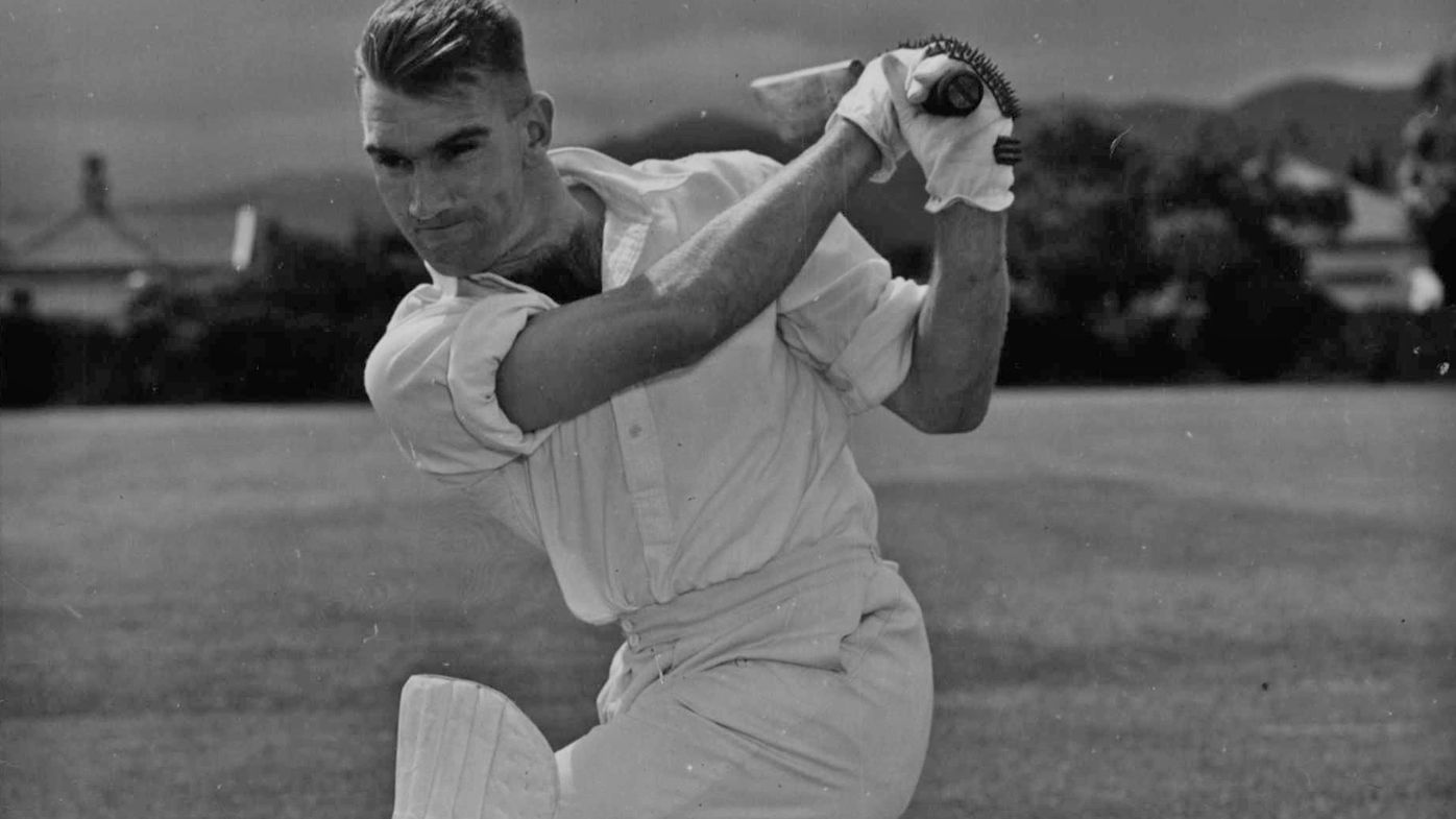 John Reid in 1949, as the youngest member of the NZ side in England