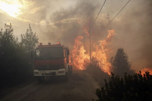 Police are investigating if the fires were deliberately lit. Picture: AP