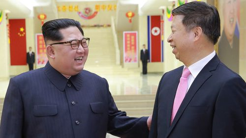 The North Korean leader met with the head of the ruling Communist Party's International Department following his meeting with President Xi Jinping in China (AAP)