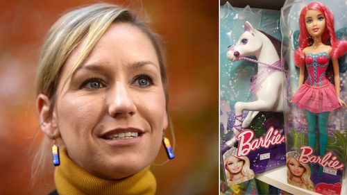 Senator Larissa Waters has supported calls to boycott gendered-marketed toys, such as Barbies. (Supplied)