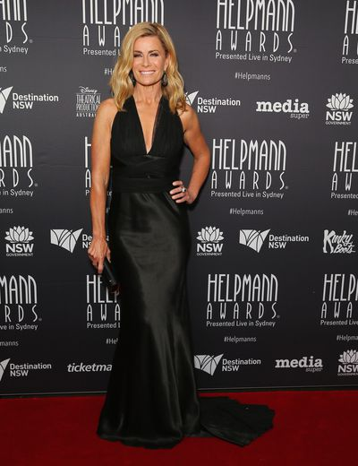 Deborah Hutton in Vera Wang at the Helpmann Awards 2017, Capitol Theatre, Sydney.